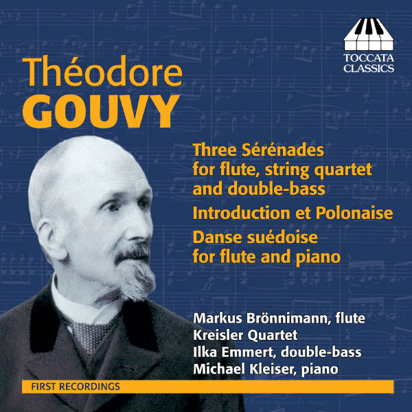 CD Théodore Gouvy - Three Sérénades for flute, string quartet and double-bass