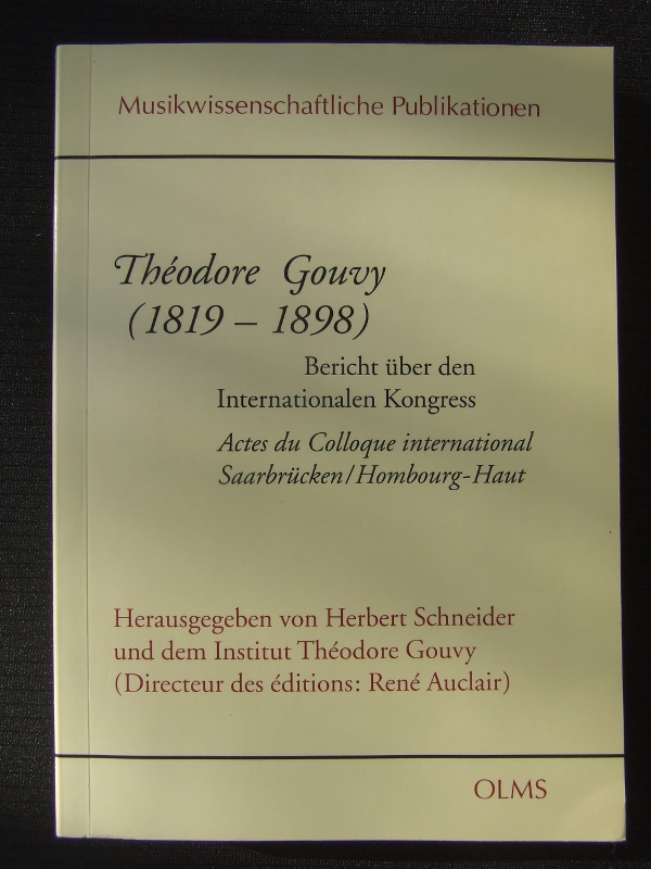 Actes du colloque international - Théodore Gouvy